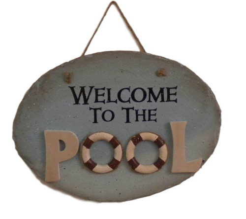 Welcome To The Pool Sign  Nautical Seasons