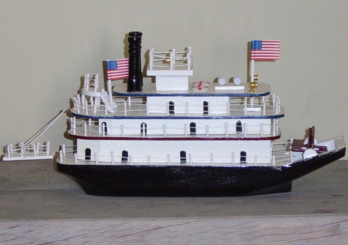 Paddle Boat Wooden Model #2049