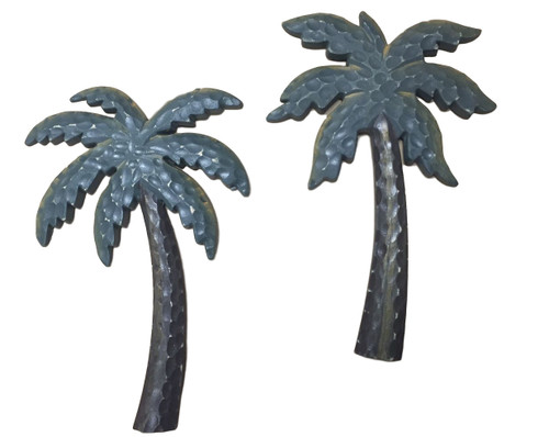 Carved Palm Tree Wall Plaque  Nautical Seasons