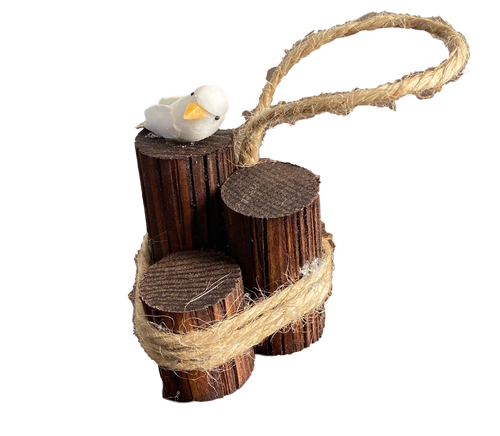Bird On wooden Piling Ornament Nautical Seasons  866-888-2628