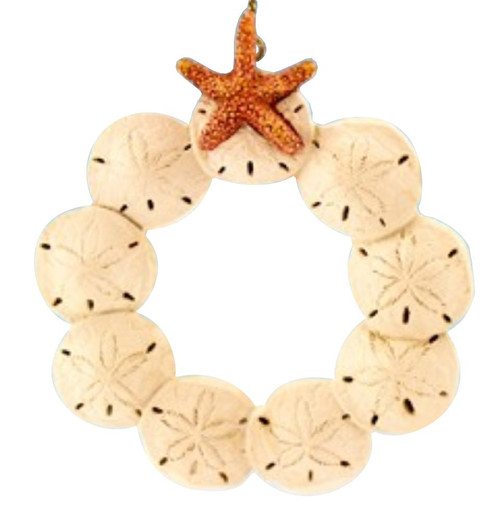 Sand Dollar Wreath Ornament Nautical Seasons