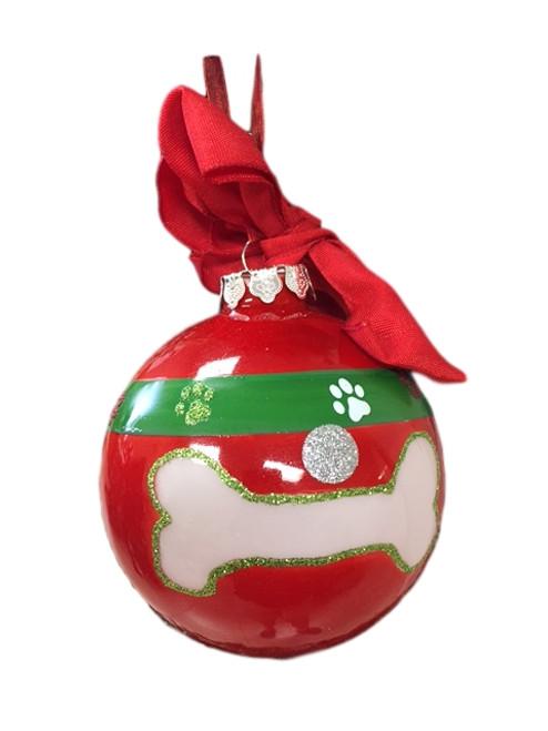 Red Dog Bone Ornament  Nautical Seasons