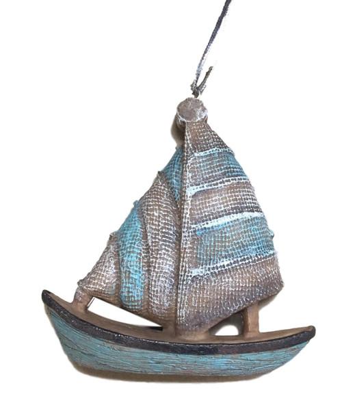 Sailboat Christmas Ornament  Nautical Seasons