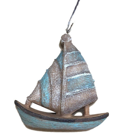 Sailboat Christmas Ornament  Nautical Seasons