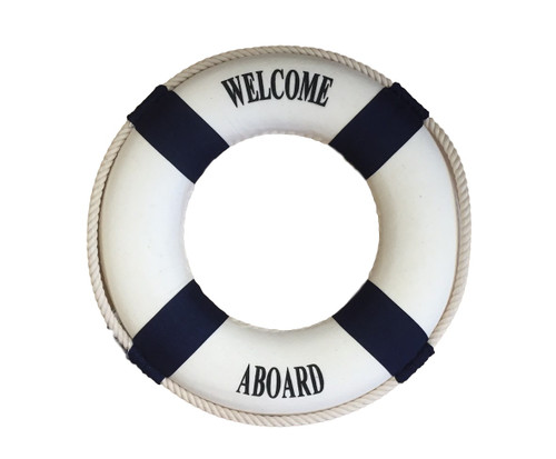 Welcome Aboard Life Ring  Nautical Seasons