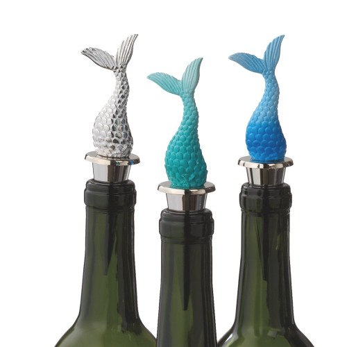 Mermaid Tails Wine Bottle Topper  Nautical Seasons