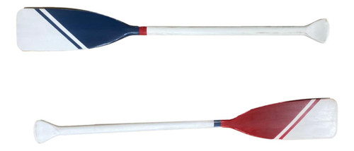 Painted Red Blue White Vintage Style Hand-painted Paddles  Nautical Seasons