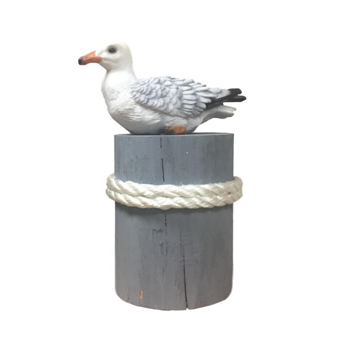 Sea Gull with Pier Post  Nautical Seasons