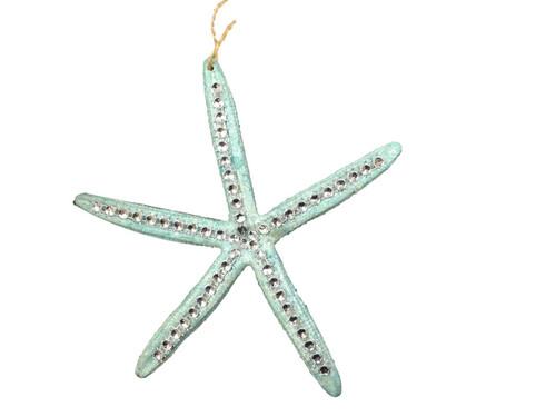 "Starfish Ornament With ""diamonds""  Nautical Seasons"