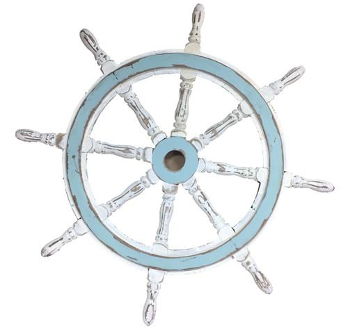 Vintage Nautical Painted Ships Wheel Nautical Seasons