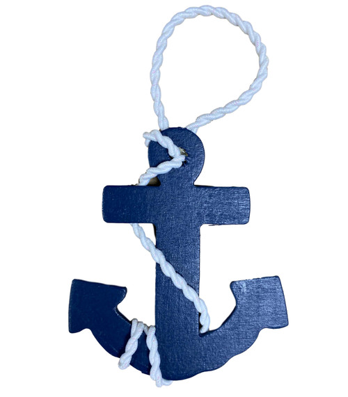 Anchor Navy Ornament  Nautical Seasons 866-888-2628