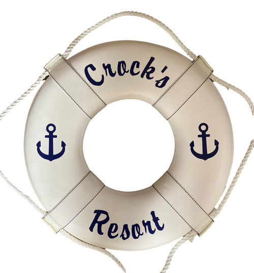 Personalized Coast Guard Approved Life Preserver Script Nautical Seasons 866-888-2628