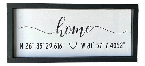 Home Latitude Longitude GPS Sign USA Made  Nautical Seasons 866-888-2628