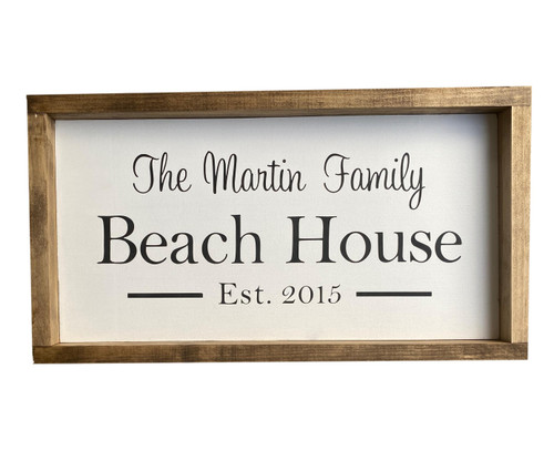 Beach House Custom Sign USA Made