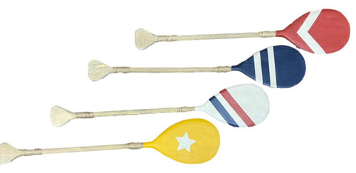 Set of 4 Decorative Painted Paddles  Nautical Seasons