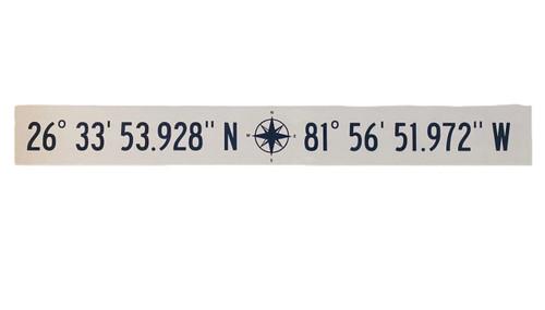 Lattitude Latitude Longitude  Hand Painted Wood Sign  Nautical Seasons