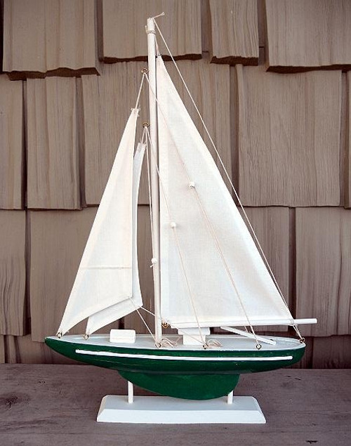 """19"""" Sailboat on Stand Color: Red, Blue, Green #6006"""