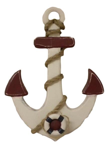 Wood Wall Anchor Painted Nautical Seasons