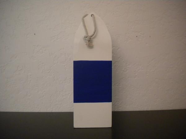 White Buoy with Blue Stripe #15204