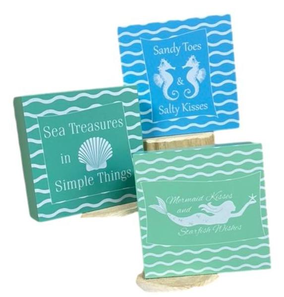 Sea  Treasures, Mermaid, Sea Horse Signs  Nautical Seasons