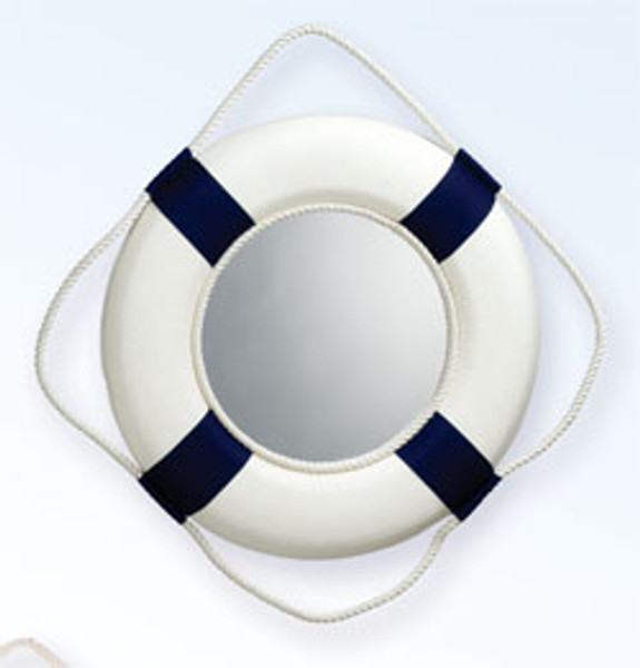 """Life Preserver Ring Mirror 14"""" #4038 RED"""