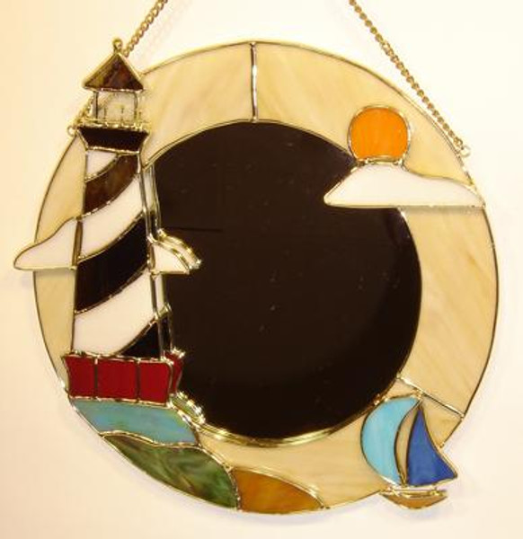 Lighthouse Stained Glass Mirror #3900