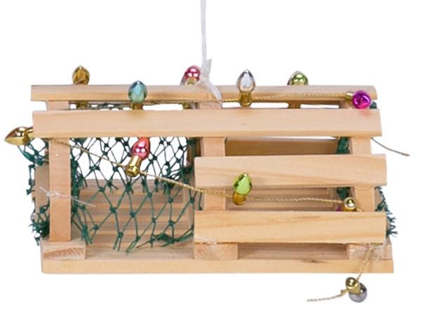 Lobster Trap Christmas Ornament Nautical Seasons