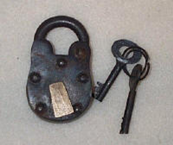 Lock Old Vintage Antique Style With Keys #3333
