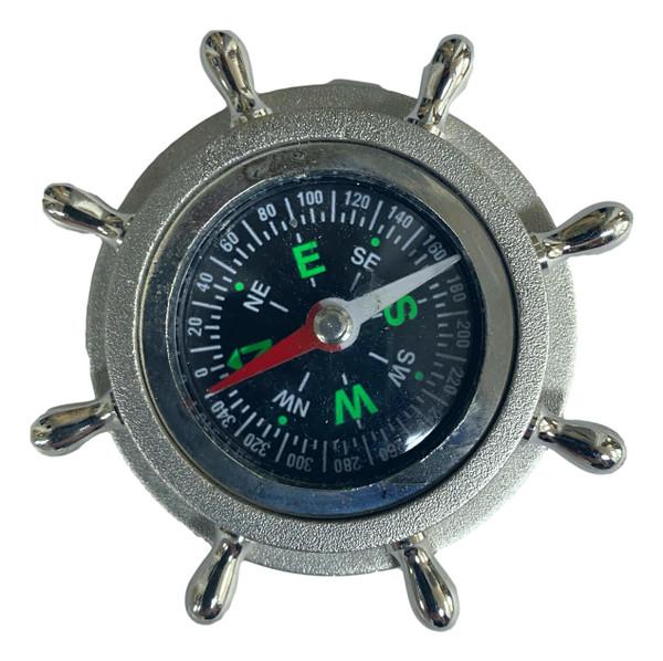 Silver Colored Desk Compass  Nautical Seasons 866-888-2628