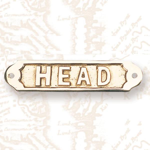 Head Brass Bathroom Sign #3265