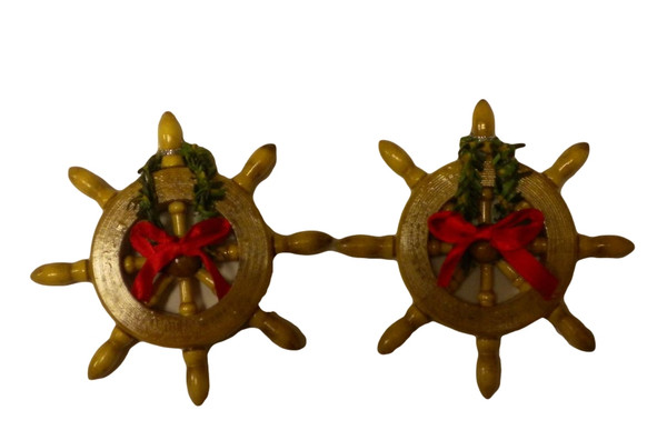 Ships Wheel Christmas Ornaments  Nautical Seasons 866-888-2628