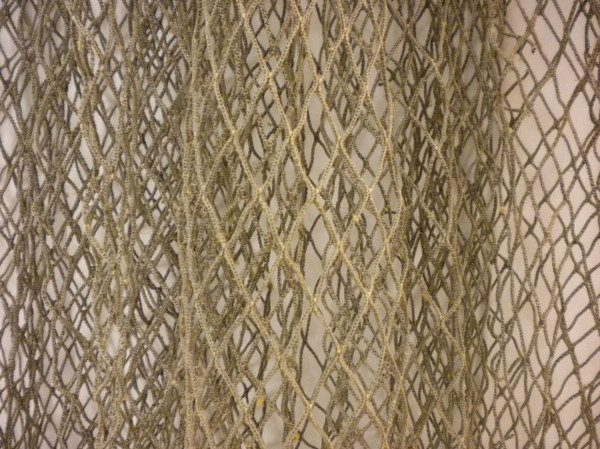 Authentic Used Brown Fishing Net for decoration Nautical Seasons