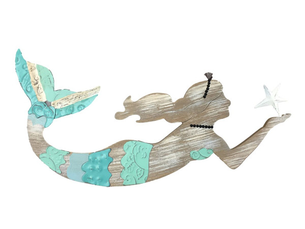 Wall Mermaid Larger  Nautical Seasons