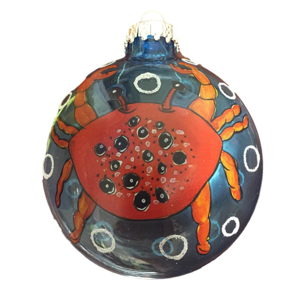 Red Crab Ornament  Nautical Seasons