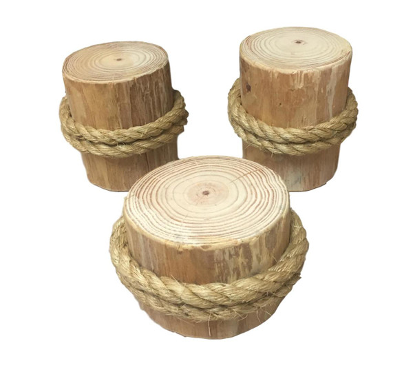 Single Wood Pilings Set of 3  Nautical Seasons