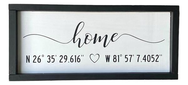 Home Latitude Longitude GPS Sign USA Made  Nautical Seasons 866-888-2628