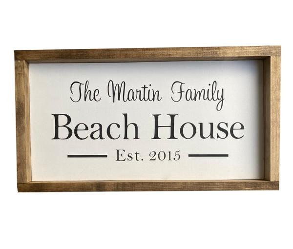 Beach House Custom Sign USA Made