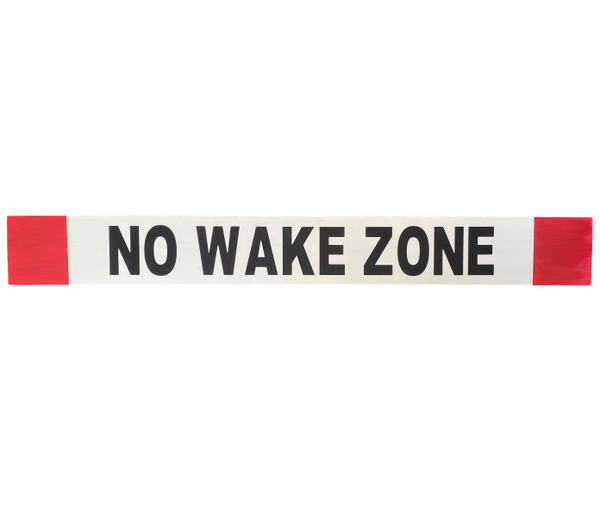 No Wake Zone Wooden Sign  Nautical Seasons