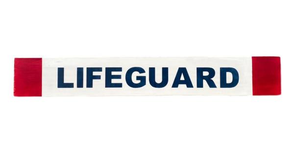 Lifeguard Wooden Beach Sign  NauticalSeasons