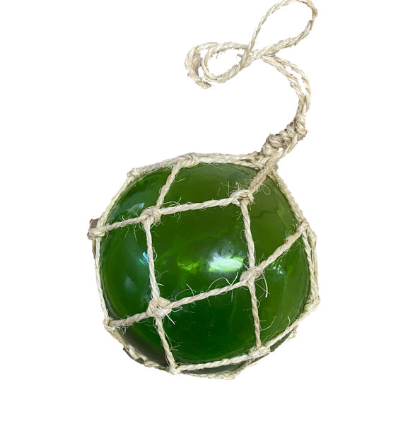 Green Glass Fishing Float 6""