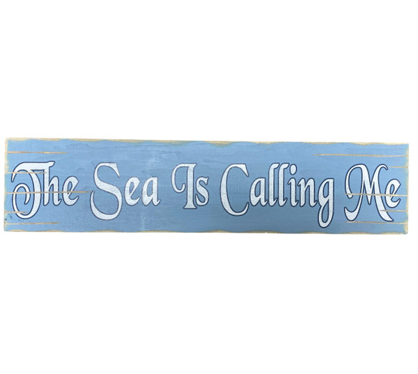 The Sea Is Calling Rustic Vintage Style Sign Nautical Seasons