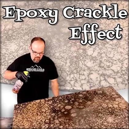 Epoxy Crackle Effect