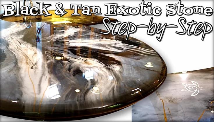Black & Tan Exotic Stone