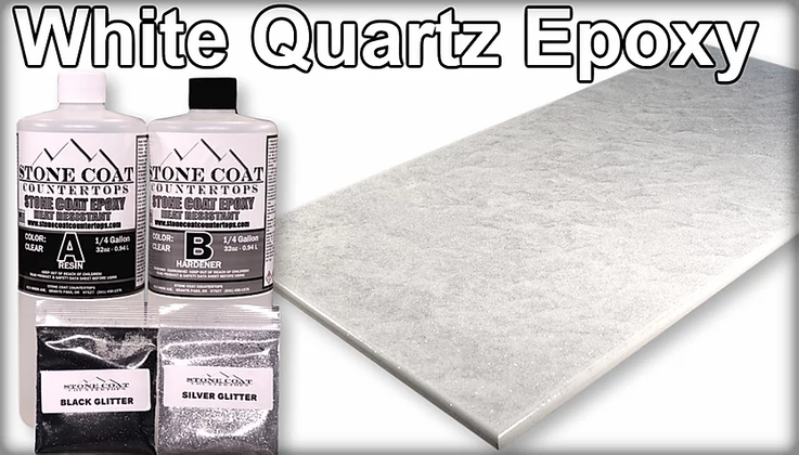 White quartz epoxy