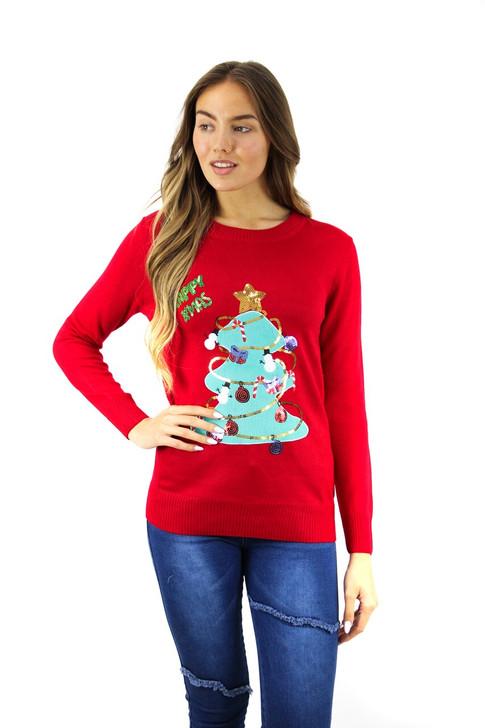 Happy Xmas Tree Christmas Sweater 5pcs