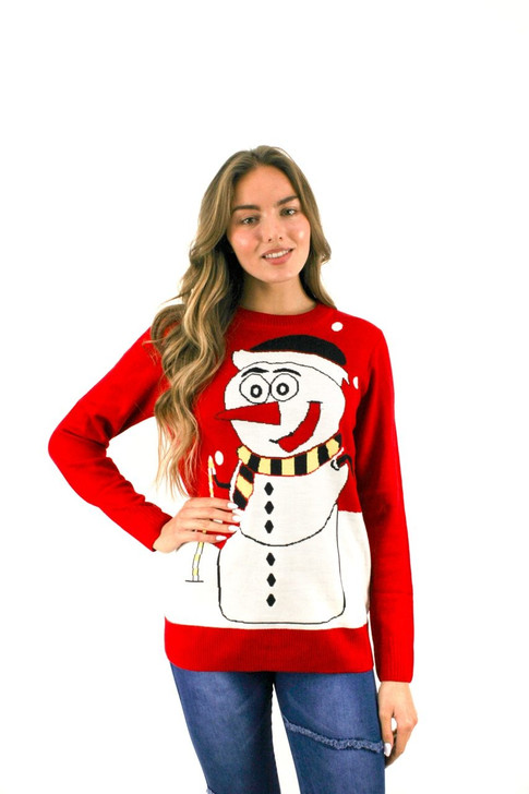 Red Dot Snowman Christmas Sweater 8pcs