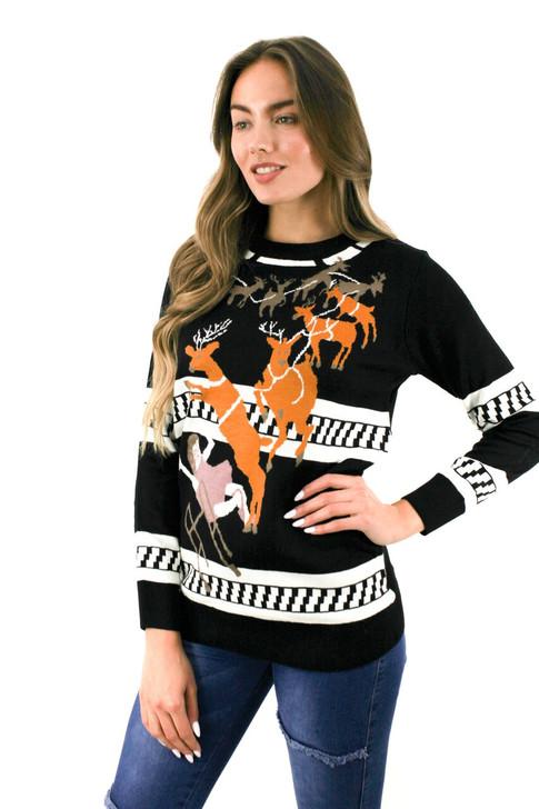Black Grandma Got Run Over by a Raindeer Christmas Sweater 8pcs