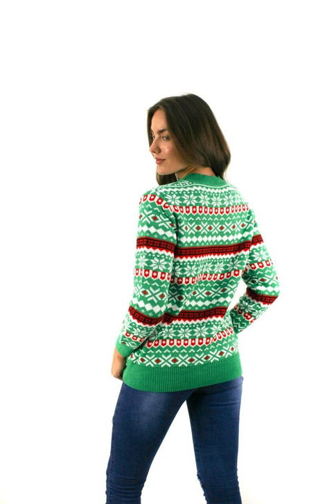Green Im Going to Party Like Its My Birthday Christmas Sweater 8pcs