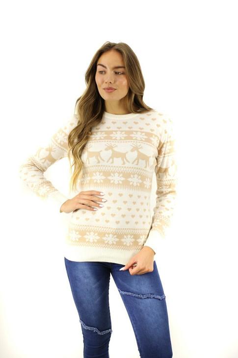 Mellow Reindeer Heart Snow Christmas Sweater 8pcs