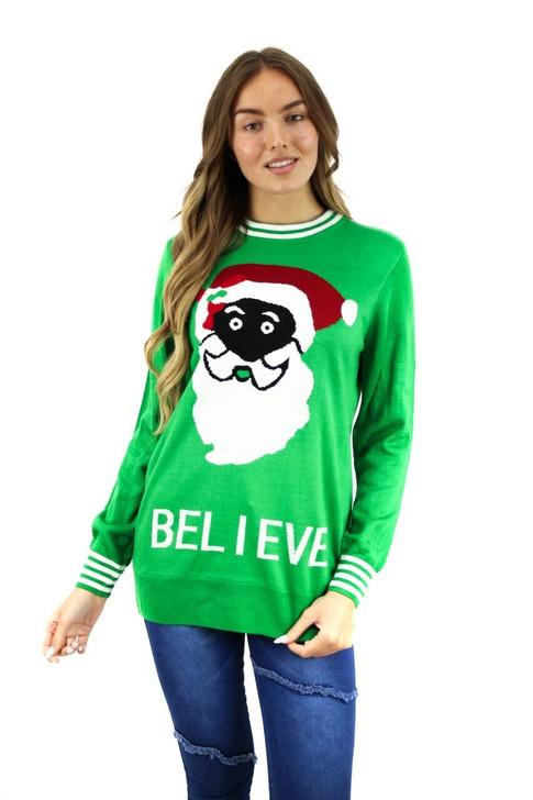 Green Believe Christmas Sweater 15pcs